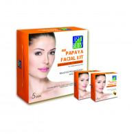 Astaberry Papaya Facial Kit 6 Step Pouch 12 Facial...