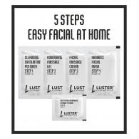Luster Cosmetics Charcoal Sea Mud Facial Kit, 45gm