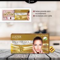 Luster Gold Radiance Facial Kit (115 gm) - Paraben...
