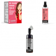 Combo of Luster Cosmetics Rose Mulberry Facial Kit...