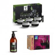 Combo of Nutriglow charcoal facial kit 260gm + Nut...